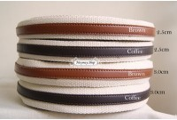 Rw129 Canvas + PU Stripe Webbing Handle (2.5cm)