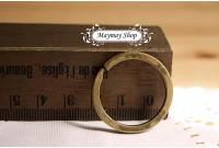 Rw185 Antique Brass Key Rings Holder