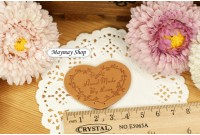 Rw203L Leather Badge*Love Shape*
