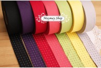L236 Cotton 7 Color Polka Dot Bias Tape