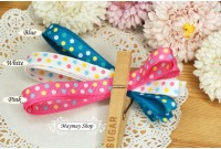RG21 Polka Dot 10MM Grosgrain Ribbon