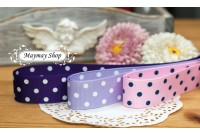 RG27 Purple Series Polka Dot Grosgrain Ribbon