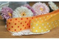 RG28 Orange & Yellow Polka Dot Grosgrain Ribbon