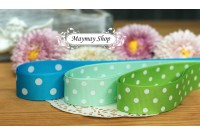 RG30 Blue & Green Polka Dot Grosgrain Ribbon