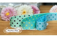 RG31 Tiffany Polka Dot Grosgrain Ribbon