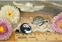 RW24A  Hair Clip+Brooch Pin base 3cm (Dual Application)