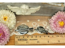 RW24B  Hair Clip+Brooch Pin base 2cm (Dual Application)
