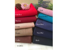 LC2055 Blended Linen Cotton*10 Plain Color*