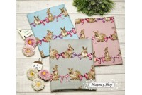 JPC2075 Cotton Fabric*Rabbit & Bow*