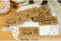 RW247 Brown Paper Price Tag/Name Tag(Birdcage)