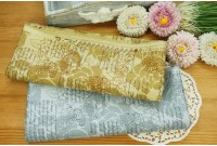 JPC2204 Cotton Fabric*Script In Roses Base*