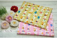 JPC2209 Cotton Fabric*Cartoon Alphabet*
