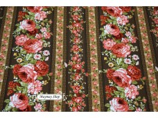 JLC2222 Blended Linen Cotton*Stripe Rose Garden*