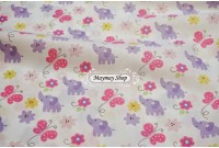 C2239 Designer Brand Cotton *Elephant & Butterfly*