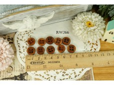Rw266 Plain Square 10 Piece Buttons
