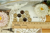 Rw267 Doter Line Coconut Shell 10 Piece Button
