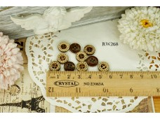 Rw268 Concave Doter Line Coconut Shell button
