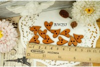 Rw257 Love Shape Wooden Button