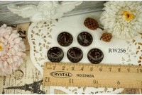 Rw256 Ribbon Doter Line Wooden Button