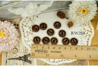 Rw258 Cat's Eye Wooden Button