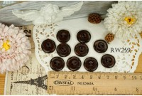Rw259 Flower Wooden Button