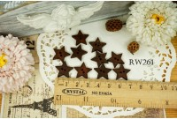 Rw261 Star Wooden Button