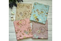 JPC2206 Cotton Fabric*Country Sue & Wreath*