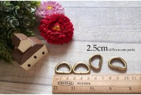 Rw95 Antique Brass 2.5cm D Ring