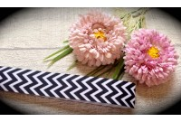 RG32 Chevron Grosgrain Ribbon(Black)