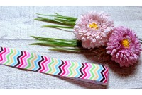 RG32 Colourful Chevron Grosgrain Ribbon(3MM)