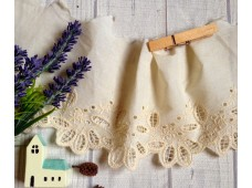 L246 Victorian Style Embroidered Cotton Lace(K)