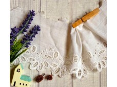 L247 Victorian Style Embroidered Cotton Lace(L)