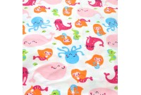 "CF2392 Cotton Flannel ""Miss Mermaid & Buddy"""