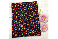 "C2413 Designer Brand Cotton""Colourful Button"""
