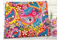 "ZC2417 Designer Brand Cotton""Colourful Paisley"""