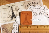 Rw211 Pu Leather badge * Eiffel Tower(B)*