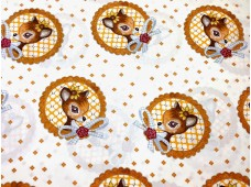 "C2423 Designer Brand Cotton""kawaii Deer Badge"""