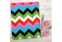 "C2424 Designer Brand Cotton""Multi Colour Chevron"""