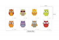 LC1408 Panel Cute Owl Illust Cut (Old Version)