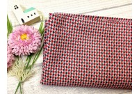 "ZC2426 Designer Brand Cotton""Red Houndstooth"""