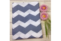 "ZC2430 Designer Brand Cotton""Grey Huge Chevron"""