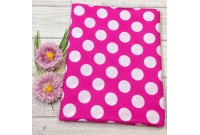 "C2434 Designer Brand Cotton""Huge Pink Polka Dot"""