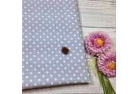 "ZC2435 Designer Brand Cotton""Grey Dot"""