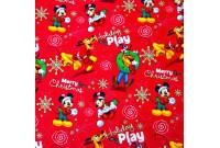 "C2464 Designer Brand Cotton""Mickey Holiday Play"""