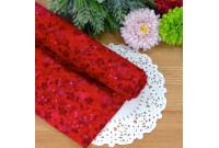 "C2475 Designer Brand Cotton""Red Tiny Blossom"""