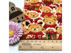 "C2488 Designer Brand Cotton""Christmas Bear"""
