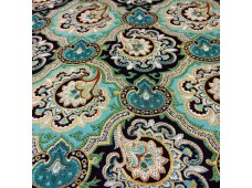 "C2504 Designer Brand Cotton""Turquoise Golden Edge Batik"""