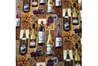 "C2505 Designer Brand Cotton""Tapestry Wine Bottles"""