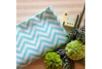 "C2547 Designer Brand Cotton""Medium Chevron Blue"""