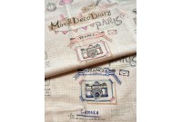 LC2571 Blended Linen Panel 'Min & Deco diary Paris'